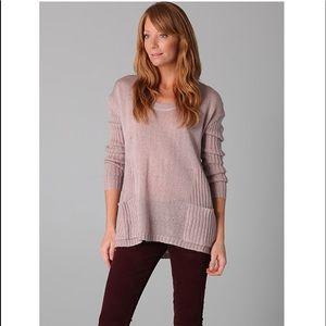 "Ella Moss ""Ava"" Sweater/Front Pockets In Gray Sz S"